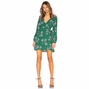 Cupcakes and Cashmere /Mystique Green Wrap Dress